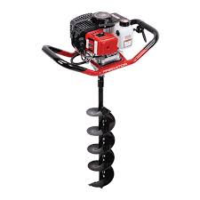 Earth auger with 8 inch drill bit